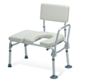 Medline Padded Transfer Bench with Commode Opening